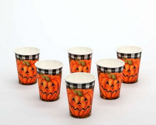 Halloween Party Cups 6 Paper Creepy Trick Treat